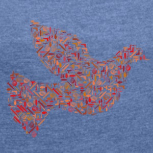 peace dove - Women's T-shirt with rolled up sleeves