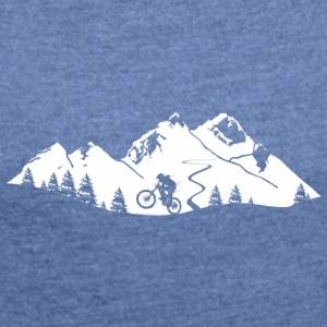 mountain Bike Trail - Women's T-shirt with rolled up sleeves