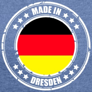 DRESDEN - Women's T-shirt with rolled up sleeves
