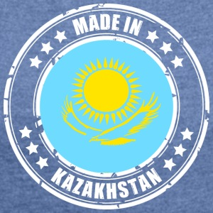 Made in Kazakhstan - Women's T-shirt with rolled up sleeves