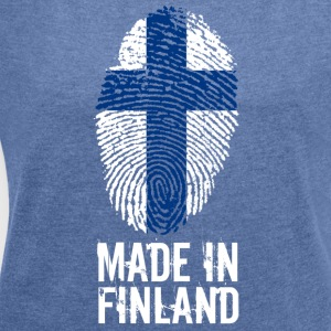Made in Finland / Made in Finland Suomi - Women's T-shirt with rolled up sleeves