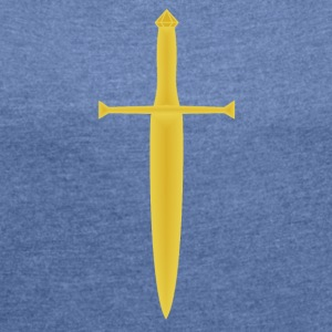 Gold Sword - Women's T-shirt with rolled up sleeves