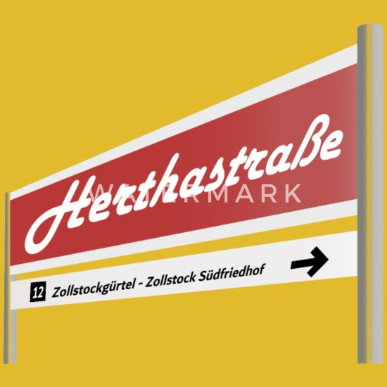 Haltestelle Herthastrasse Koln Zollstock Frauen T Shirt Mit Gerollten Armeln Spreadshirt