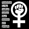 Feminism is the radical notion that women are peop - Taza de un color