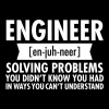 Engineer - Solving Problems - Tasse einfarbig