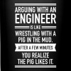 Arguing With An Engineer... - Taza de un color