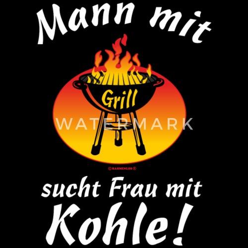 Bbq Mann Mit Grill Sucht Frau Mit Kohle Rahmenlos Geburtstag