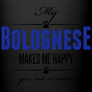 My Bolognese makes me happy - Tasse einfarbig