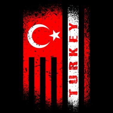 """Fahne Turkey Mousepad /""""Türkei/"""" Landesflagge Türkiye Cumhuriyeti"""