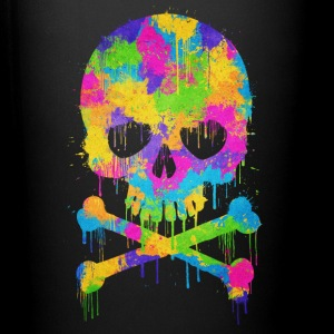 Trendy & Cool Abstract Graffiti Skull