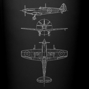 Spitfire airplane blueprint avion