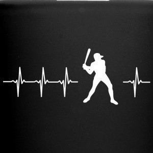 I love baseball (baseball heartbeat) - Full Colour Mug