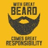 With Great Beard Comes Great Responsibility - Kubek jednokolorowy
