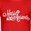 Music is the Answer - Men's Slim Fit T-Shirt