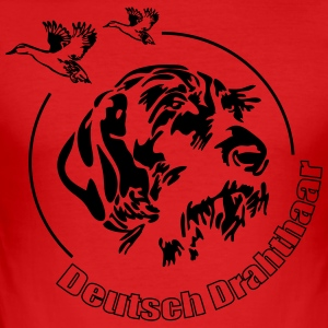Deutsch Drahthaar - Männer Slim Fit T-Shirt