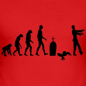 zombie evolusjon - Slim Fit T-skjorte for menn