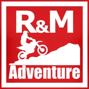 R M Adventure - Männer Slim Fit T-Shirt