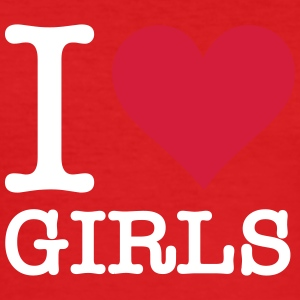 I Love Girls - Men's Slim Fit T-Shirt