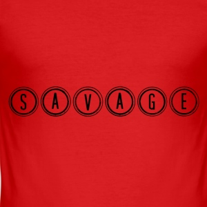 SAVAGE - Männer Slim Fit T-Shirt