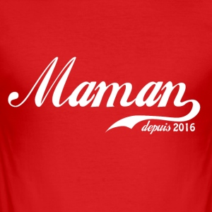 Mom since 2016! - Men's Slim Fit T-Shirt