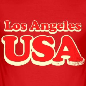 Los Angeles usa - Herre Slim Fit T-Shirt