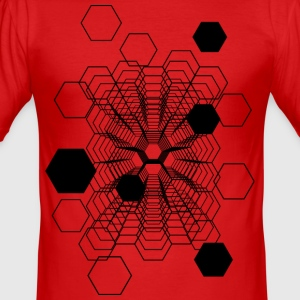 Kosmische Honeycomb - Männer Slim Fit T-Shirt