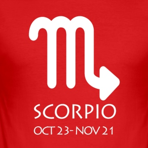 Scorpio Zodiac Sign - Männer Slim Fit T-Shirt