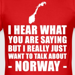 Norge Funny Holiday Gift Idé - Herre Slim Fit T-Shirt