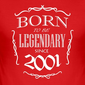 Born to be Legendary siden 2001 - Herre Slim Fit T-Shirt