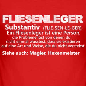 fliesenlegeristeineperson substantiv - Männer Slim Fit T-Shirt