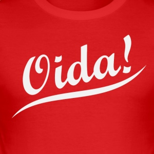 Trendiges Oida T-Shirt - Männer Slim Fit T-Shirt