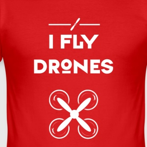 Drone heli flight control drones vliegen quadrocopt - slim fit T-shirt