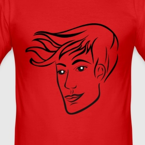 hairstyle man - Men's Slim Fit T-Shirt