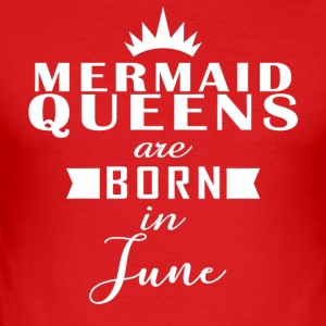 Mermaid Queens juni - Slim Fit T-skjorte for menn