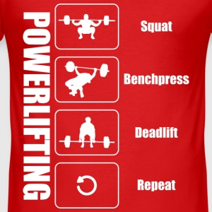 Powerlifter Lifestyle - Männer Slim Fit T-Shirt