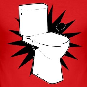 Vector toilet (toilet Super) - Men's Slim Fit T-Shirt