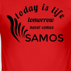 SAMOS - Slim Fit T-shirt herr