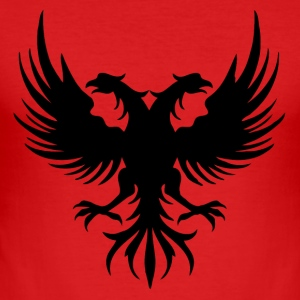 Two eagle Head of the flag of Albania - Men's Slim Fit T-Shirt