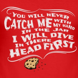 Cookie biscuit head in the biscuit cool gift - Men's Slim Fit T-Shirt