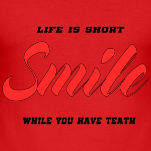 smile - Men's Slim Fit T-Shirt