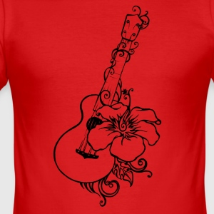 ukulele - Slim Fit T-shirt herr