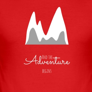 And the adventure begins. - Men's Slim Fit T-Shirt