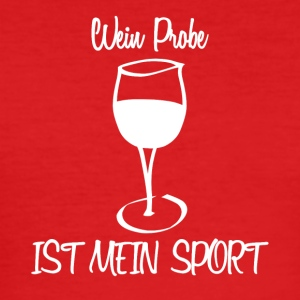 Vinsmaking er min sport - Slim Fit T-skjorte for menn