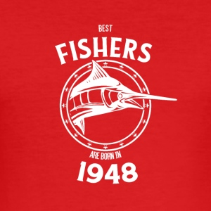 Present for fishers born in 1948 - Men's Slim Fit T-Shirt