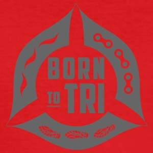 'Born to TRI' - Grey - Men's Slim Fit T-Shirt