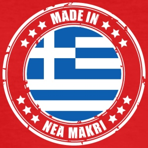 MADE IN NEA MAKRI - Männer Slim Fit T-Shirt