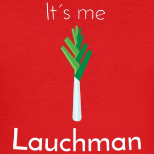 Lauch: Lauchman [White Edition] - Männer Slim Fit T-Shirt