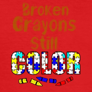 Broken crayons still color - Männer Slim Fit T-Shirt