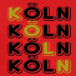 Köln tverr - Slim Fit T-skjorte for menn