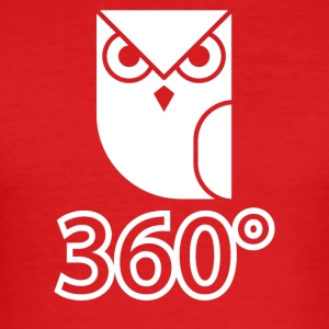 owl wite - Men's Slim Fit T-Shirt
